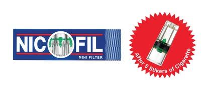 Nicofil Mini Filter Suck 80pct Tar